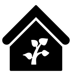 Greenhouse Building Flat Icon vector image
