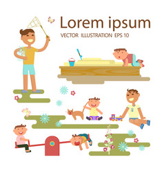 happy childhood concept vector image