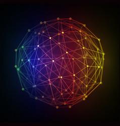 polygonal 3d globe vector image vector image