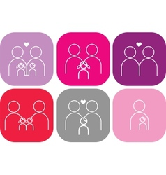 set of family icons vector image