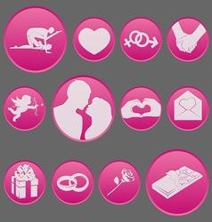 valentine icon set gradient style vector image