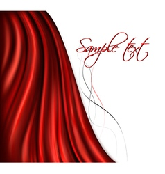 brightly lit red curtain background vector image