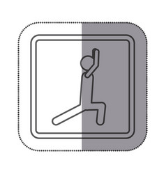 figure person stretching doing exercise icon vector image