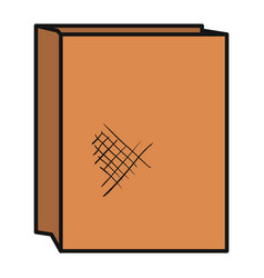 paper bag for bread vector image