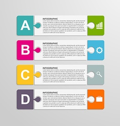 Puzzle piece infographics business concept vector image
