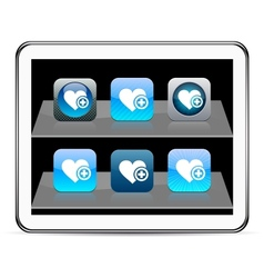 Add to vavorite blue app icons vector image
