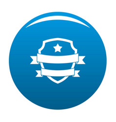 badge hipster icon blue vector image vector image