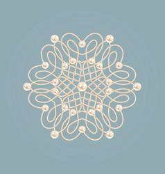 elegant golden knot sign elegant golden floral vector image
