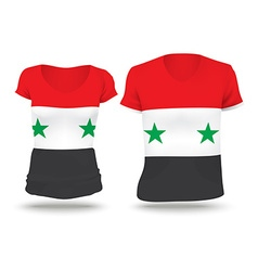 Flag shirt design of Syria vector image vector image