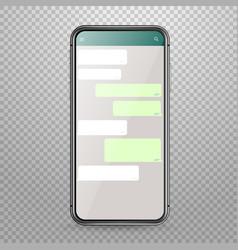 modern smartphone mockup with messenger vector image