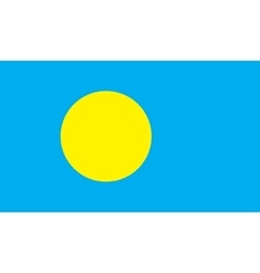 Palau flag image vector image vector image