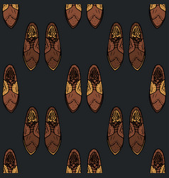 seamless pattern with man symbols vector image