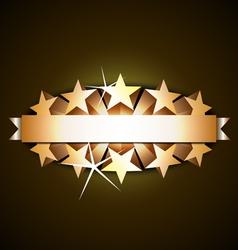 shiny ribbon vector image vector image