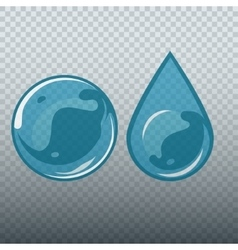 Transparent underwater bubble and drop vector image vector image