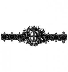 baroque ornament vector image vector image