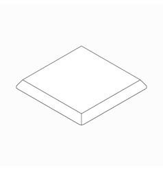 Baseball base icon isometric 3d style vector