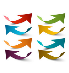 paper arrows colorful arrow set vector image