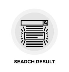 Search Result Line Icon vector image