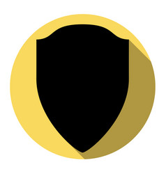shield sign flat black icon vector image vector image