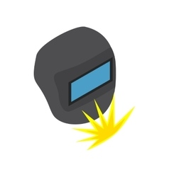 Welding mask icon isometric 3d style vector image