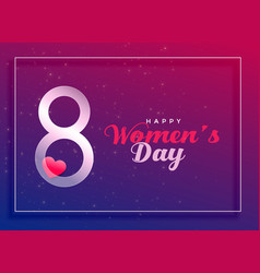 8th march international womens day celebration vector