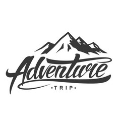 Adventure vintage logo vector