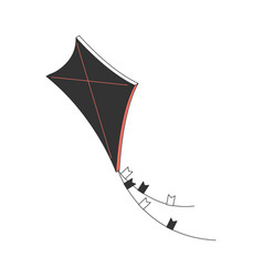 Air kite isometric composition vector
