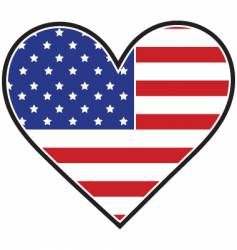 american heart flag vector image