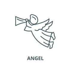 angel line icon outline concept linear vector image
