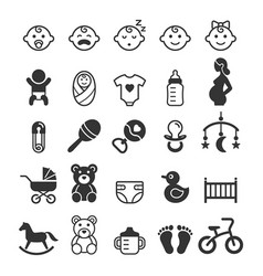 Baby icons set vector