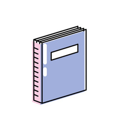 Book object to education knowledge literature vector