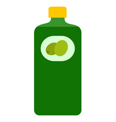 bottle olive oil flat icon isolated vector image