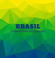 Brazil soocer game background vector
