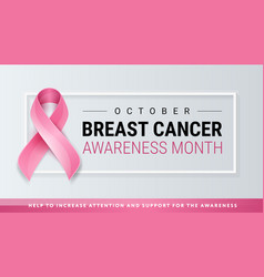 breast cancer awareness pink ribbon background vector image