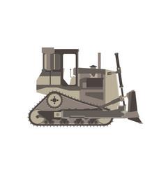 bulldozer icon construction tractor equipment vector image