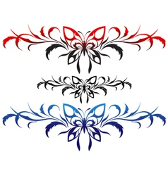 Butterflies tribal vector