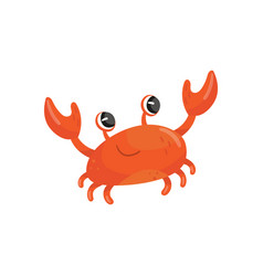 Cartoon of red smiling crab funny vector