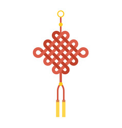 chinese knot with tassel using in lunar new year vector image