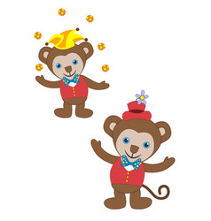 circus animal monkey - image vector image
