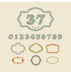 Classic adress number sign for house and vector