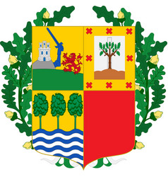 Coat of arms of basque country in spain vector