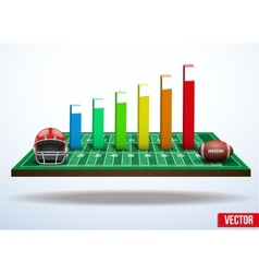 Concept of statistics about the game of football vector image