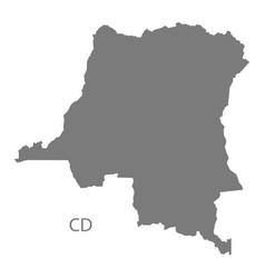 Congo democratic republic map grey vector
