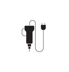 electric screwdriver black concept icon vector image