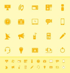 Electronic color icon on yellow background vector image