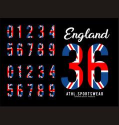 england set number textured flag vector image