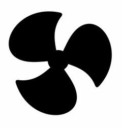 fan dark silhouette vector image