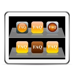 FAQ orange app icons vector image