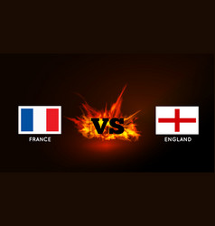 flags france and england against vs symbol vector image