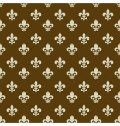 Fleur-de-lys seamless pattern vector image